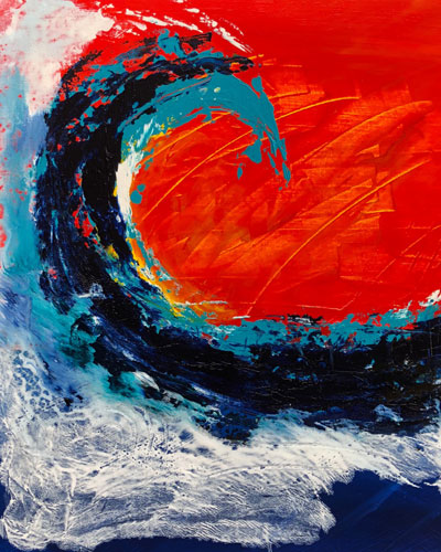 Hans Gauger Abstract Acrylic Waves